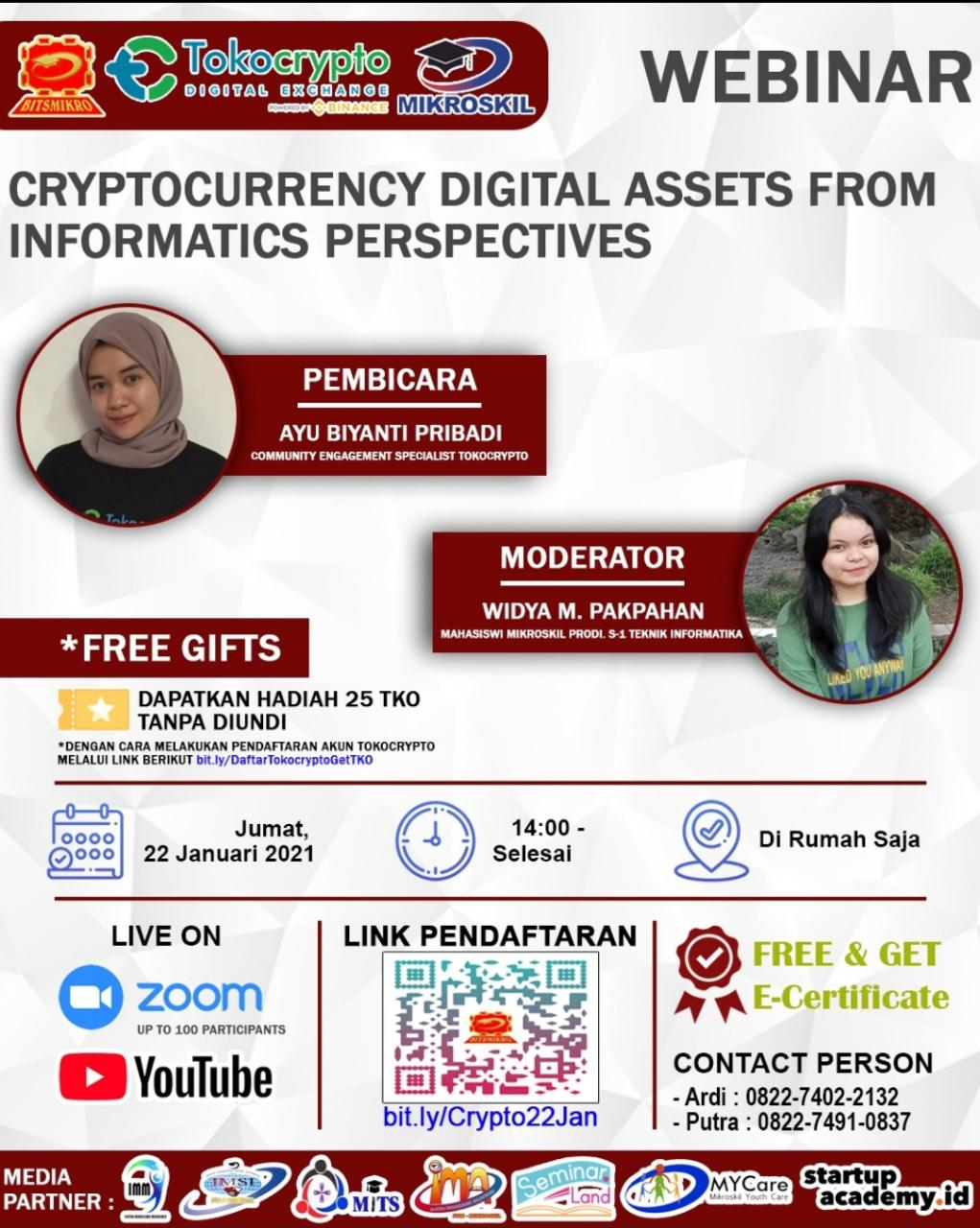 Poster: Cryptocurrency Digital Assets from Informatics Perspectives