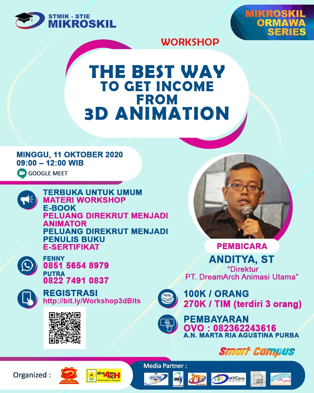 Poster: The Best Way to Get Income from 3D Animation