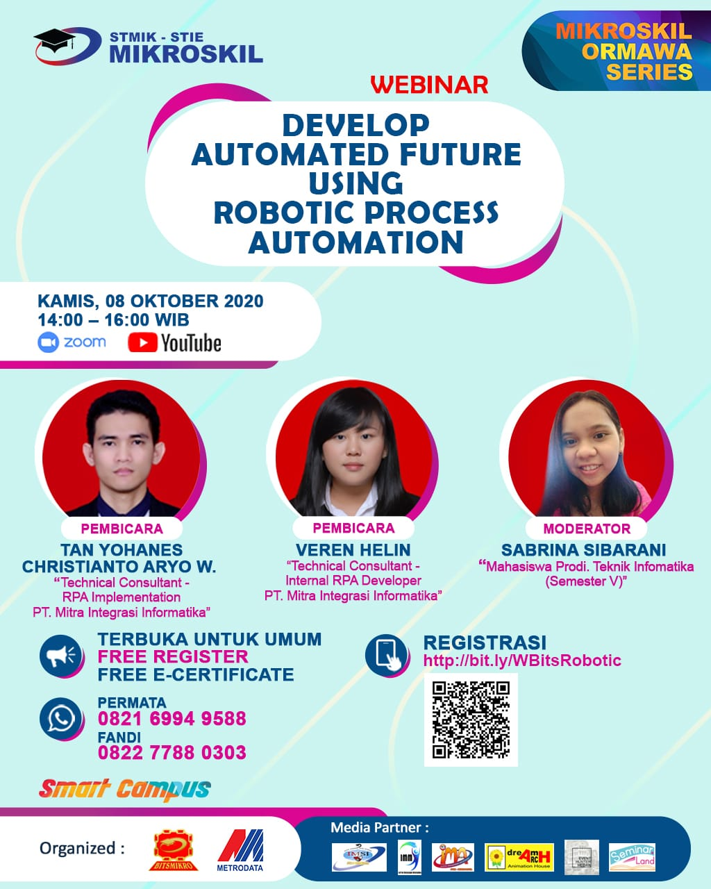 Poster: Develop Automated Future Using Robotic Process Automation (RPA)