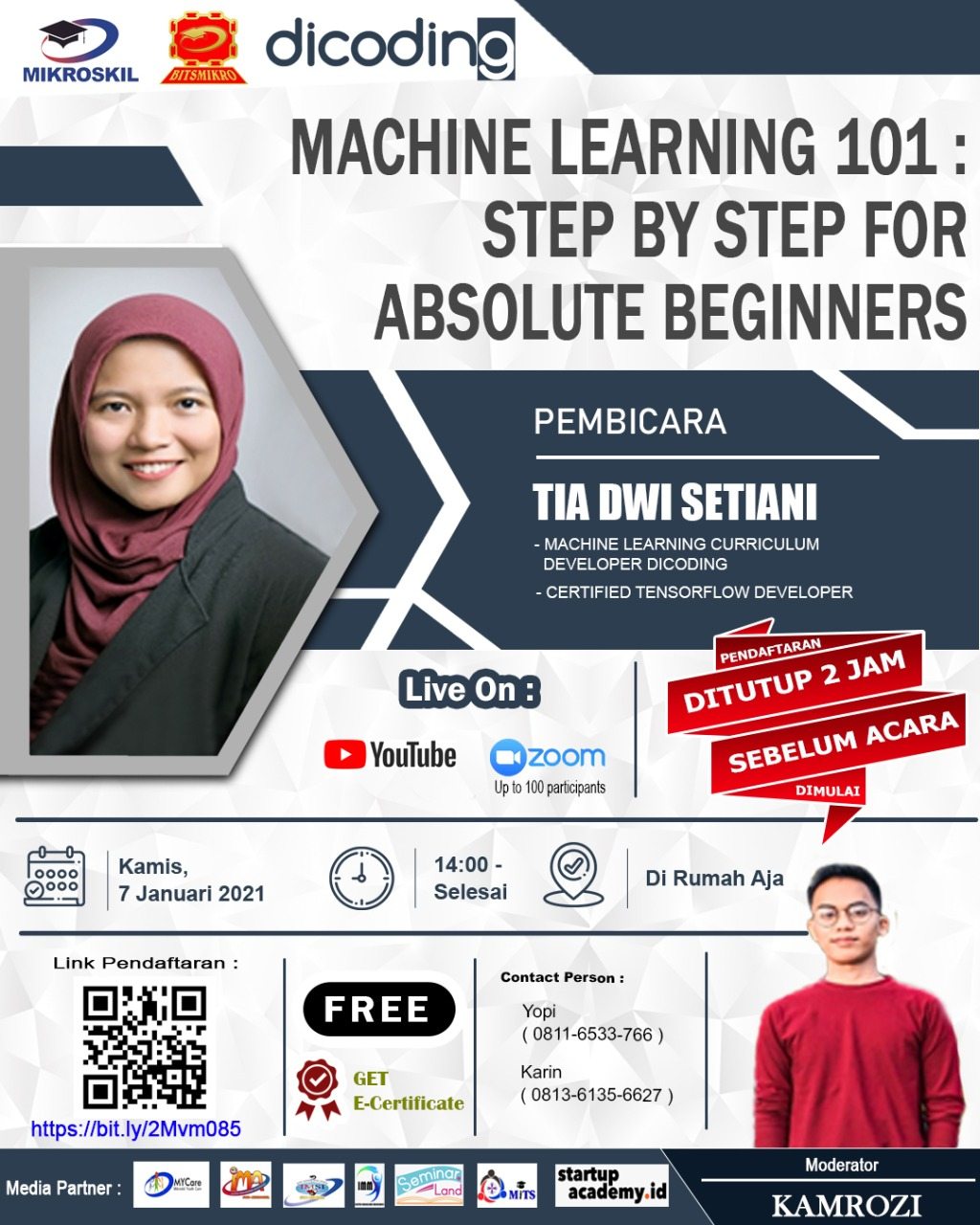 Poster: Machine Learning 101: Step by Step for Absolute Beginners
