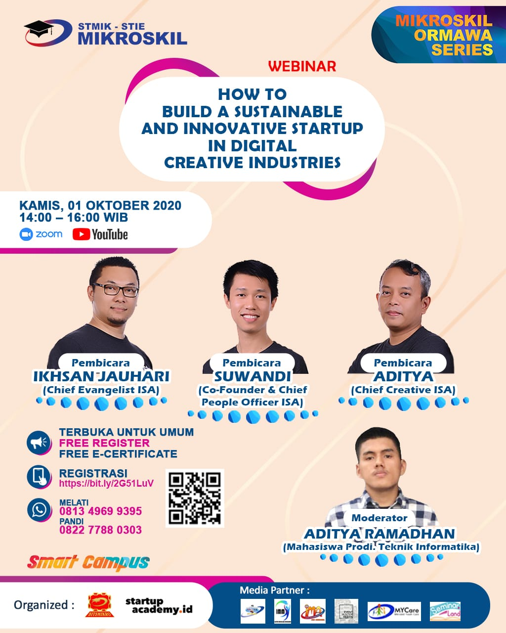 Poster: How to Build a Sustainable and Innovative Startup in Digital Creative Industries