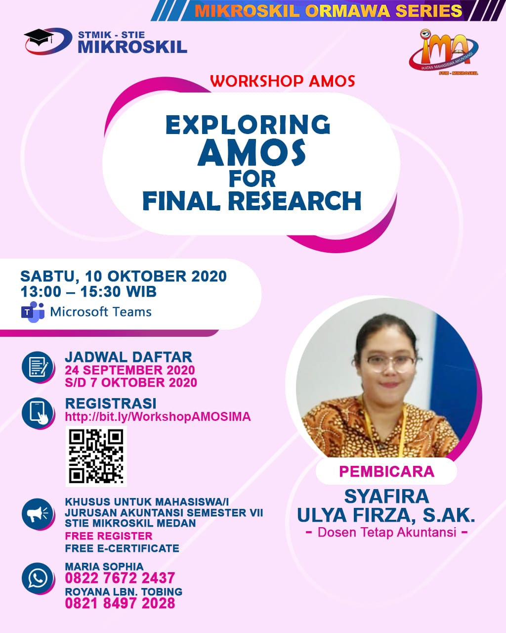 "Poster: Workshop ""Exploring AMOS for Final Research"""