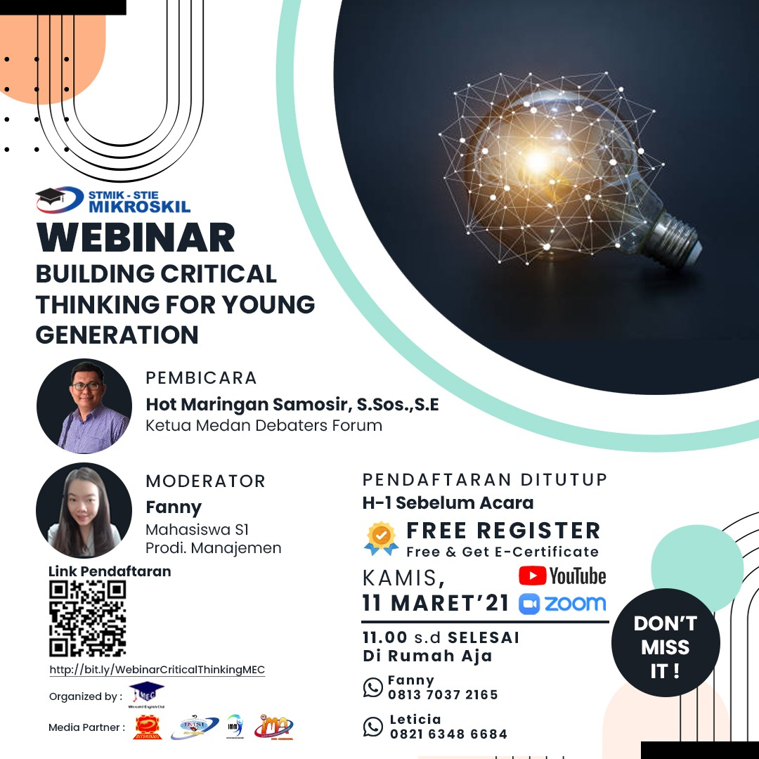 "Webinar ""Building Critical Thinking for Young Generation"""